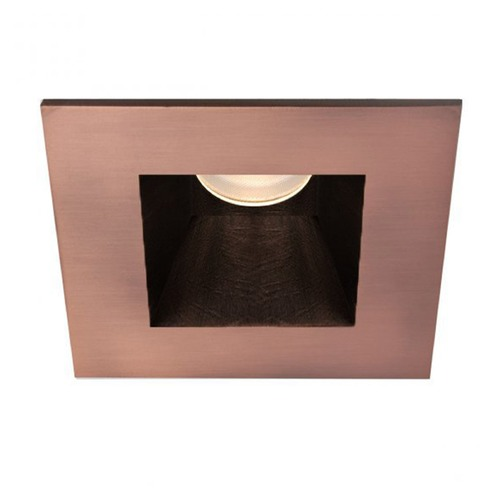WAC Lighting WAC Lighting Square Copper Bronze 3.5-Inch LED Recessed Trim 3000K 1165LM 30 Degree HR3LEDT818PN830CB