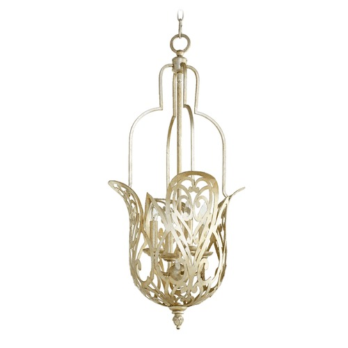 Quorum Lighting Quorum Lighting Le Monde Aged Silver Leaf Pendant Light 8192-4-60