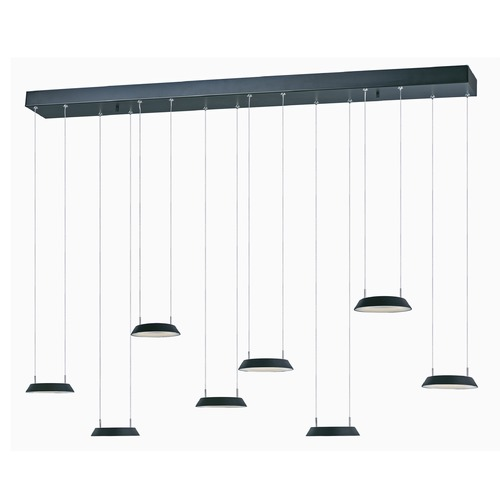 ET2 Lighting Quantum LED Black LED Multi-Light Pendant with Coolie Shade E20905-BK