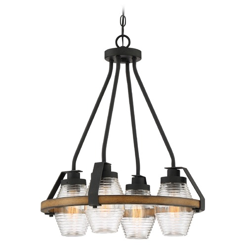 Quoizel Lighting Quoizel Lighting Guilford Grey Ash with Painted Natural Walnut Mini-Chandelier GUI5120GK