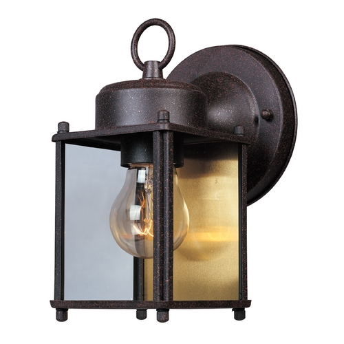Designers Fountain Lighting Outdoor Wall Light with Clear Glass in Rust Patina Finish 1161-RP