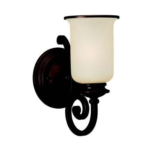 Sea Gull Lighting Sconce Wall Light with Champagne Seeded Glass in Misted Bronze Finish 41145-814
