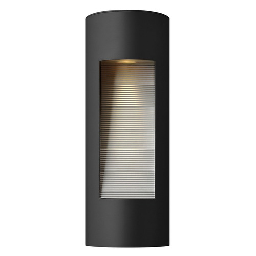 Hinkley Lighting Modern LED Outdoor Wall Light with Etched in Satin Black Finish 1660SK-LED