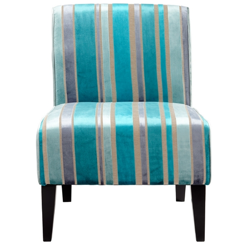 Cyan Design Cyan Design Ms. Stripy Turquoise Blue Chair 05267