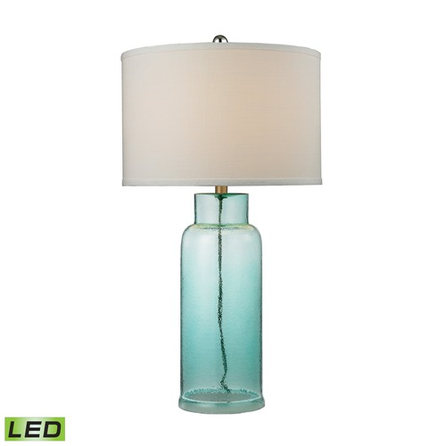 Elk Lighting Dimond Lighting Seafoam LED Table Lamp with Drum Shade D2622-LED