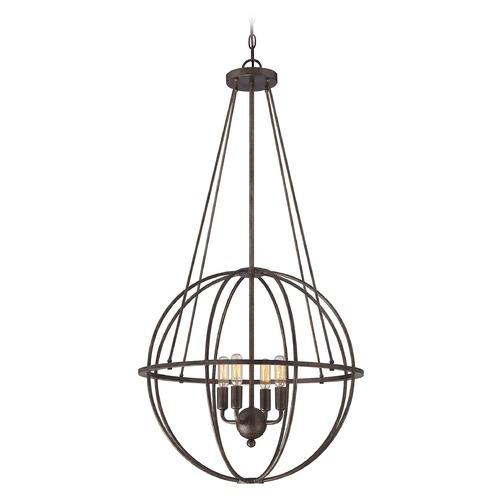 Savoy House Savoy House Lighting Elgin Galaxy Bronze Pendant Light 7-581-4-42