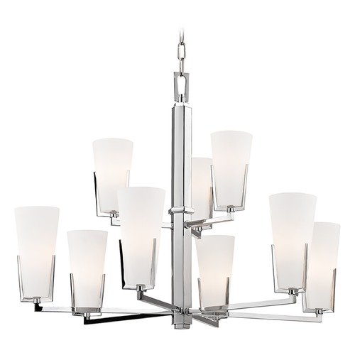 Hudson Valley Lighting Upton 9 Light 2-Tier Chandelier - Polished Chrome 1809-PC