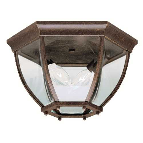 Kichler Lighting Kichler Outdoor Ceiling Light with Clear Glass in Bronze Finish 9886TZ