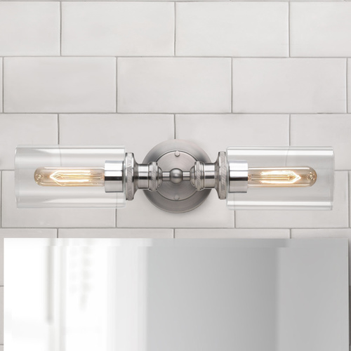 Progress Lighting Industrial Vertical Bathroom Light Antique Nickel Archives by Progress Lighting P2809-81