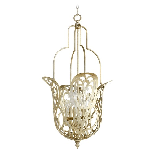 Quorum Lighting Quorum Lighting Le Monde Aged Silver Leaf Pendant Light 8192-6-60