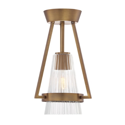 Designers Fountain Lighting Designers Fountain Montelena Old Satin Brass Semi-Flushmount Light 88911-OSB