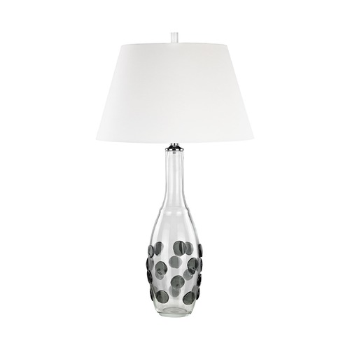 Dimond Lighting Dimond Confiserie Clear and Grey Table Lamp with Empire Shade D3167