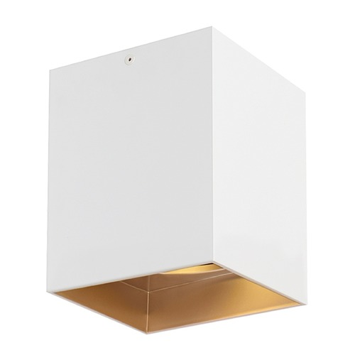 Tech Lighting White / Gold Haze LED Flushmount Ceiling Light by Tech Lighting 700FMEXO640WG-LED927