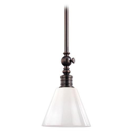 Hudson Valley Lighting Modern Mini-Pendant Light with White Glass 9608-DB