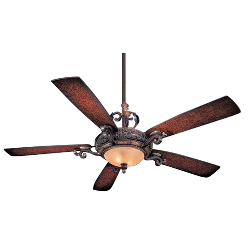 Minka Aire 56-Inch Ceiling Fan with Five Blades and Light Kit F705-STW