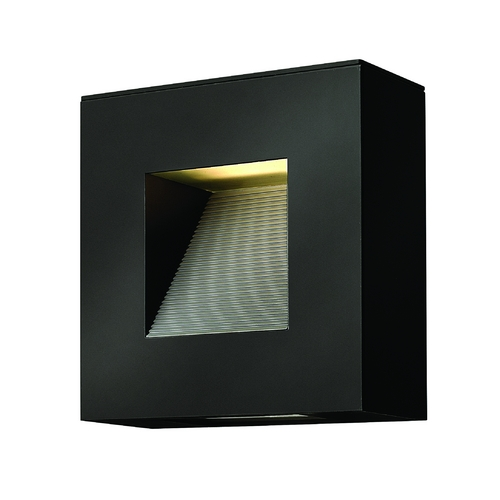 Hinkley Lighting Modern Outdoor Wall Light with Etched in Satin Black Finish 1647SK