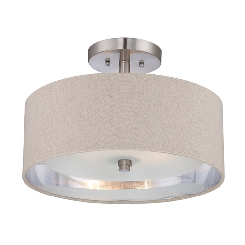 Quoizel Lighting Modern Semi-Flushmount Light in Brushed Nickel Finish CKMO1716BN