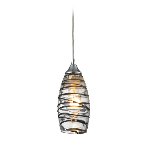 Elk Lighting Mini-Pendant Light with Clear Glass - Includes Recessed Adapter Kit 31338/1VINW-LA