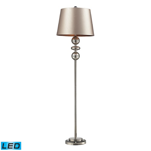 Elk Lighting Dimond Lighting Antique Mercury Glass, Polished Nickel LED Floor Lamp with Empire Shade D2228-LED