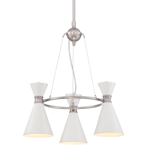George Kovacs Lighting George Kovacs Conic Brushed Nickel Mini-Chandelier P1823-44F