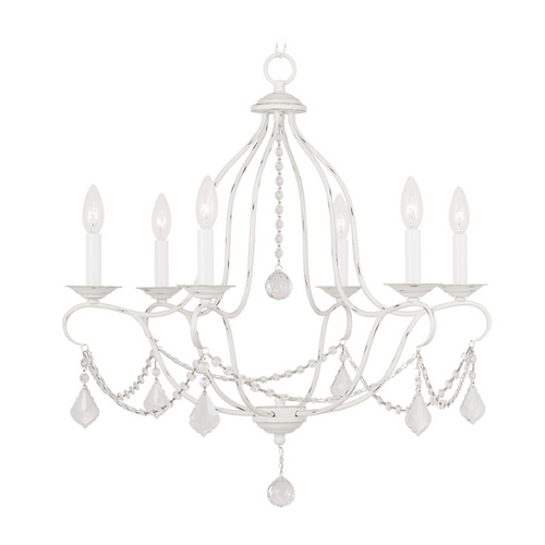 Livex Lighting Livex Lighting Chesterfield Antique White Crystal Chandelier 6426-60