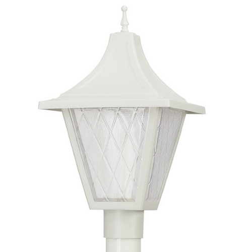 Wave Lighting Wave Lighting Marlex Vanguard White Post Light 609