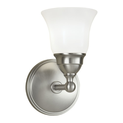 Norwell Lighting Norwell Lighting Sophie Brush Nickel Sconce 8581-BN-BSO