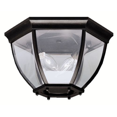 Kichler Lighting Kichler Close To Ceiling Light with Clear Glass in Black Finish 9886BK