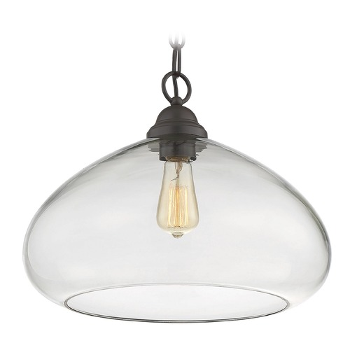 Savoy House Savoy House Lighting Shane English Bronze Pendant Light with Bowl / Dome Shade 1-2070-1-13