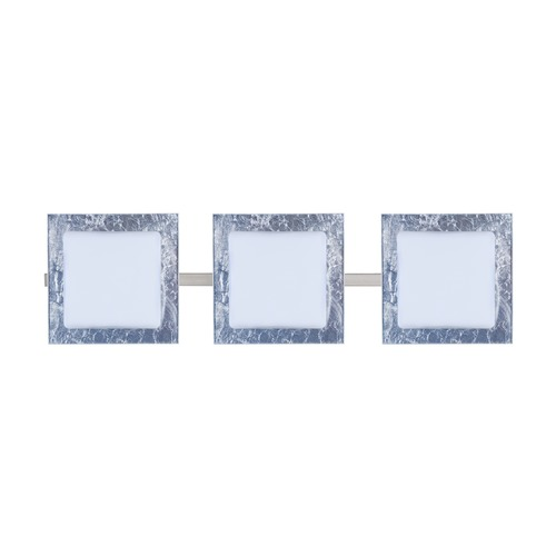 Besa Lighting Besa Lighting Alex Satin Nickel LED Bathroom Light 3WS-7735SF-LED-SN
