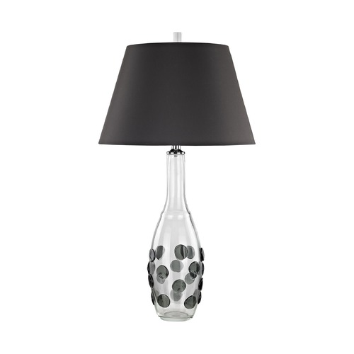 Dimond Lighting Dimond Confiserie Clear and Grey Table Lamp with Empire Shade D3168