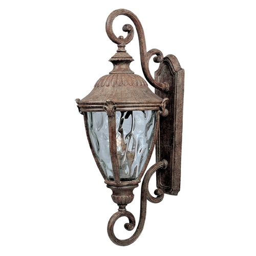 Maxim Lighting Outdoor Wall Light with Clear Glass in Earth Tone Finish 3188WGET