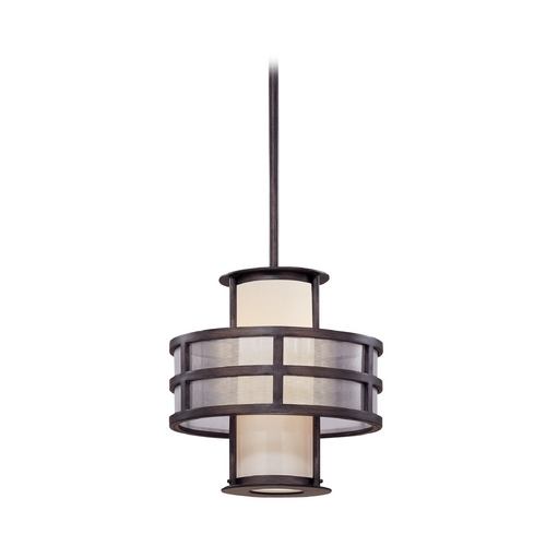 Troy Lighting Pendant Light with White Glass F2734