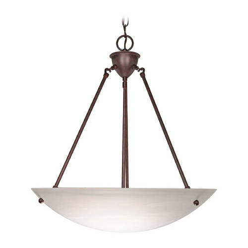 Nuvo Lighting Pendant Light with Alabaster Glass in Old Bronze Finish 60/371