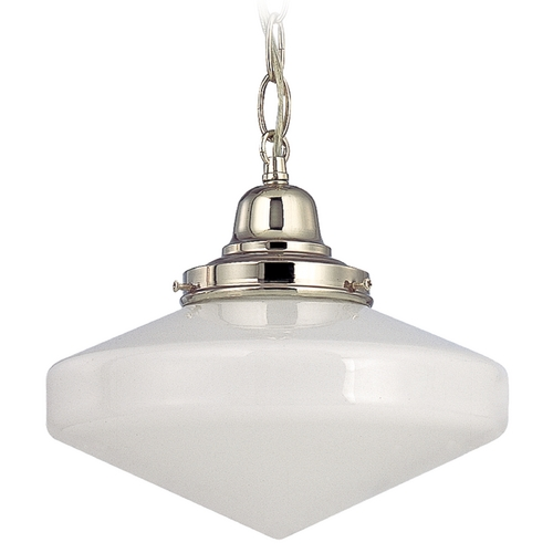 Design Classics Lighting 10-Inch Period Lighting Schoolhouse Mini-Pendant Light FB4-15 / GE10 / B-15
