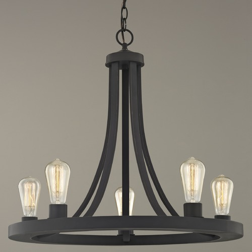 Design Classics Lighting Industrial Chandelier Bronze 5-lights 162-78