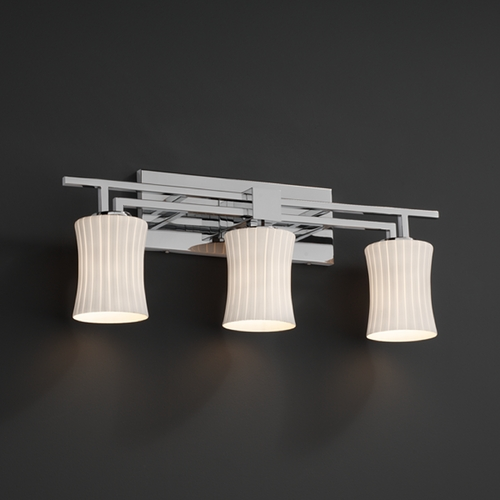 Justice Design Group Justice Design Group Fusion Collection Bathroom Light FSN-8703-60-RBON-CROM