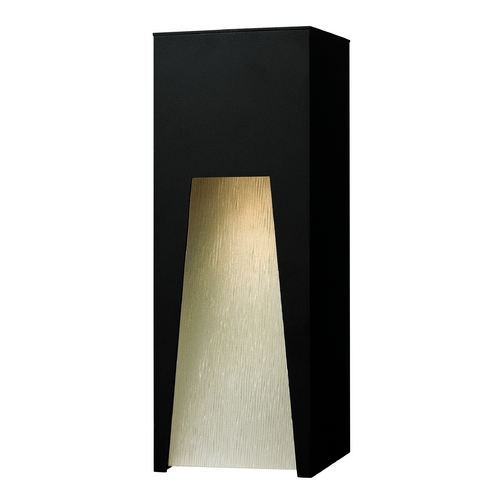 Hinkley Lighting Modern Outdoor Wall Light with Clear Glass in Satin Black Finish 1764SK