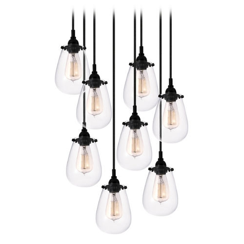 Sonneman Lighting Modern Multi-Light Pendant Light with Clear Glass and 8-Lights 4298.25