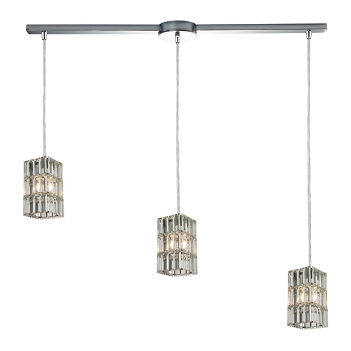 Elk Lighting Crystal Multi-Light Pendant Light 3-Lights 31488/3L