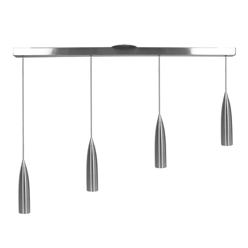 Access Lighting Access Lighting Odyssey Brushed Steel Multi-Light Pendant with Conical Shade 52004-BS
