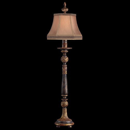 Fine Art Lamps Fine Art Lamps Castile Antiqued Iron with Gold Leaf Console & Buffet Lamp with Bell Shade 230315ST
