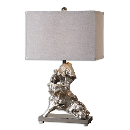 Uttermost Lighting Uttermost Rilletta Metallic Silver Table Lamp 26662-1