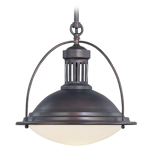 Savoy House Savoy House English Bronze Pendant Light with Bowl / Dome Shade 7-602-1-13