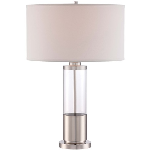 Minka Lavery Minka Polished Nickel Table Lamp with Drum Shade 12435-1