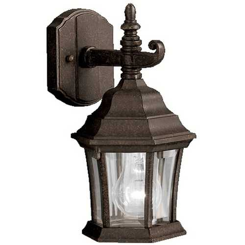 Kichler Lighting Kichler Outdoor Wall Light with Clear Glass in Tannery Bronze Finish 9788TZ
