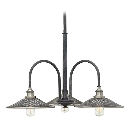 Hinkley Lighting Hinkley Lighting Rigby Aged Zinc Chandelier 4363DZ
