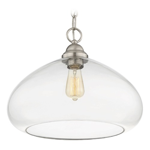 Savoy House Savoy House Lighting Shane Satin Nickel Pendant Light with Bowl / Dome Shade 1-2070-1-SN