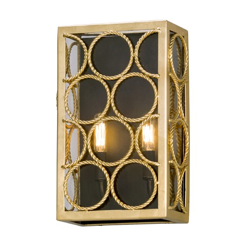 Troy Lighting Troy Lighting Bottega Gold Leaf & Textured Bronze Sconce B5282