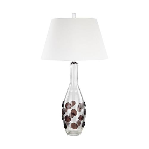 Dimond Lighting Dimond Confiserie Clear and Garnet Table Lamp with Empire Shade D3169